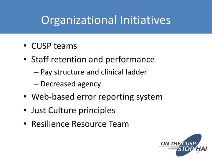 Organizational Initiatives