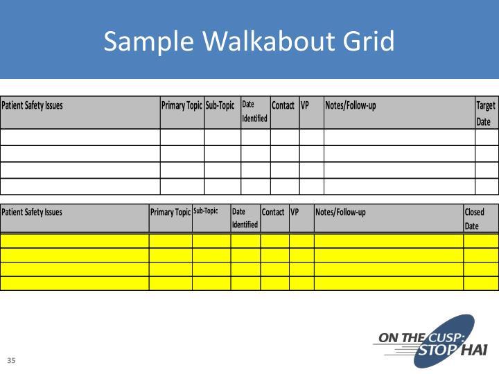 Sample Walkabout Grid