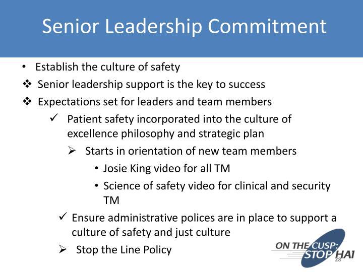 Senior Leadership Commitment