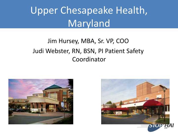 Upper Chesapeake Health, Maryland