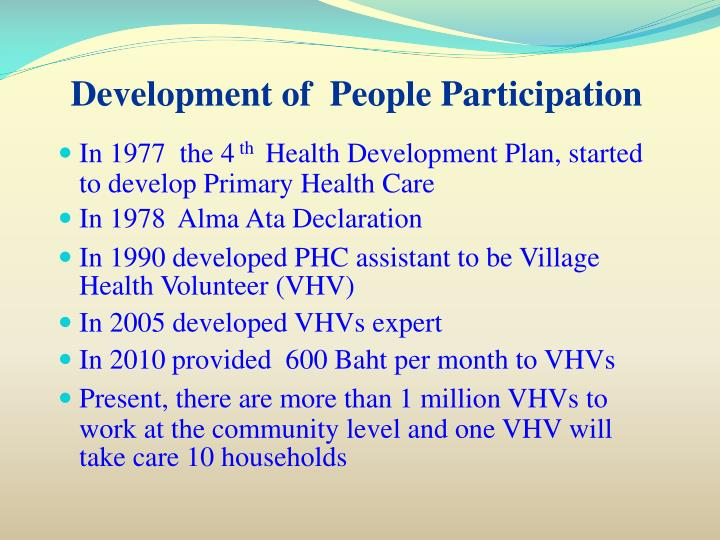 Development of  People Participation
