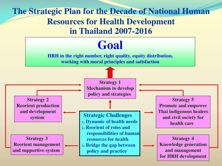 The Strategic Plan for the Decade of National Human Resources for Health Development