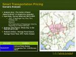 smart transportation pricing scenario analysis