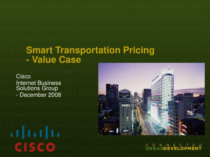 smart transportation pricing value case