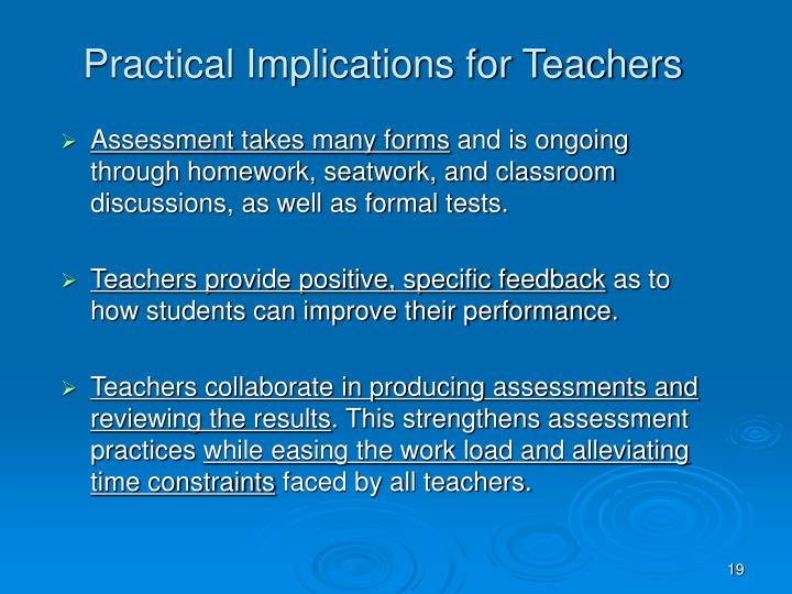 Practical Implications for Teachers