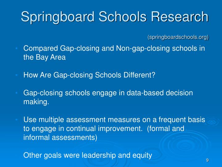 Springboard Schools Research