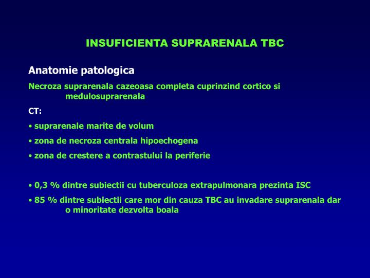 INSUFICIENTA SUPRARENALA TBC