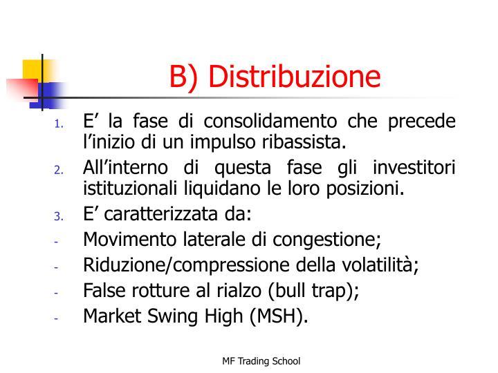 B) Distribuzione