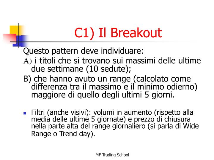 C1) Il Breakout