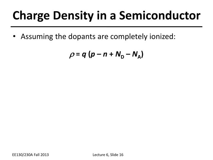 Charge Density in a Semiconductor