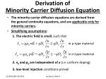 derivation of minority carrier diffusion equation