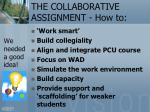 the collaborative assignment how to