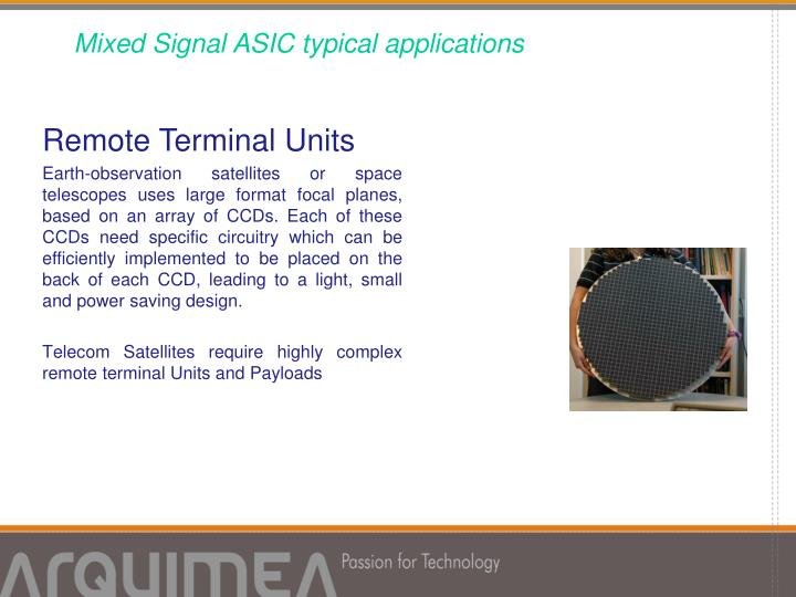Mixed Signal ASIC typical applications