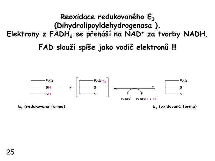 Reoxidace redukovaného E