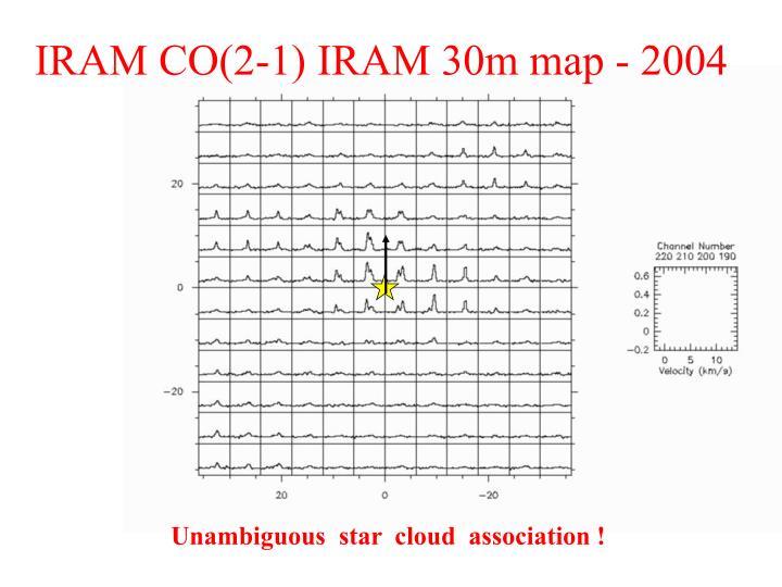 IRAM CO(2-1) IRAM 30m map - 2004