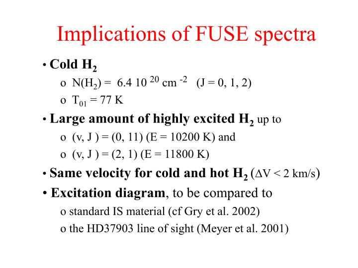 Implications of FUSE spectra