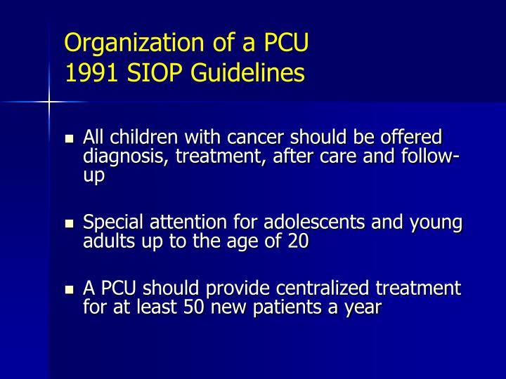Organization of a PCU