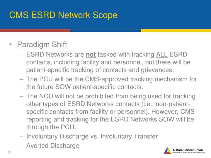 CMS ESRD Network Scope