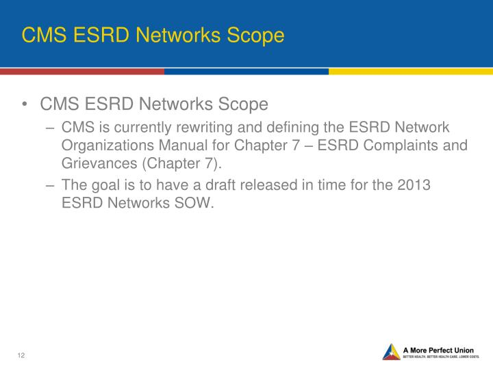 CMS ESRD Networks Scope