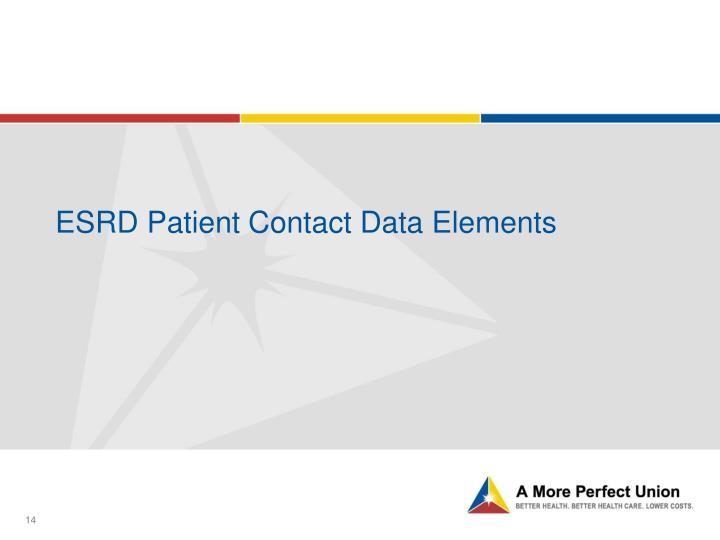 ESRD Patient Contact Data