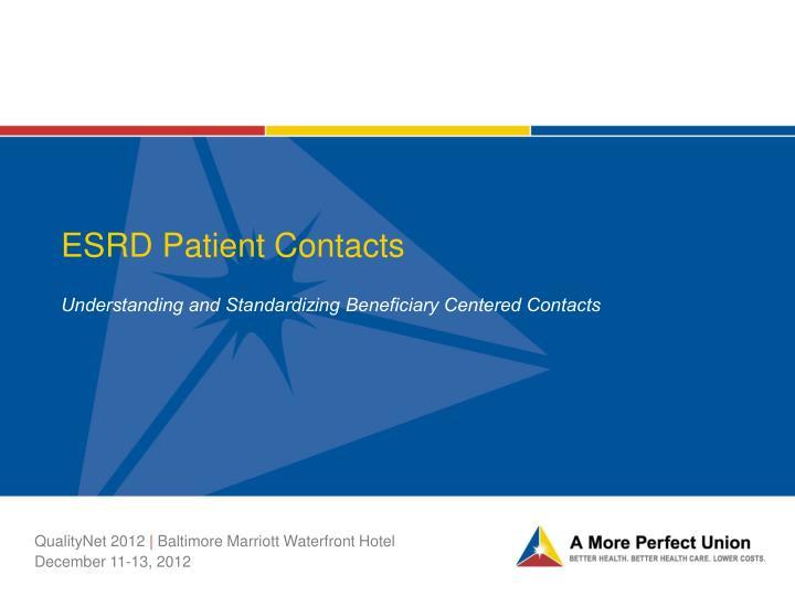 ESRD Patient Contacts