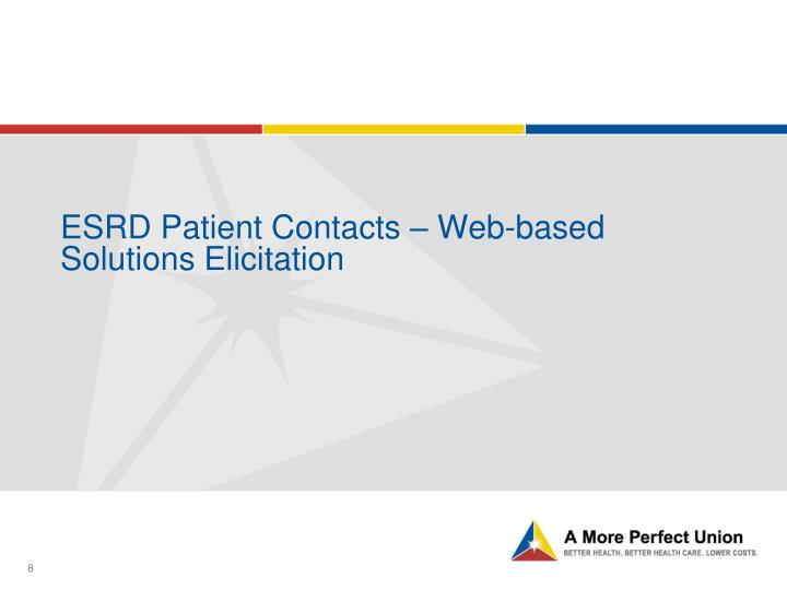 ESRD Patient Contacts – Web-based Solutions