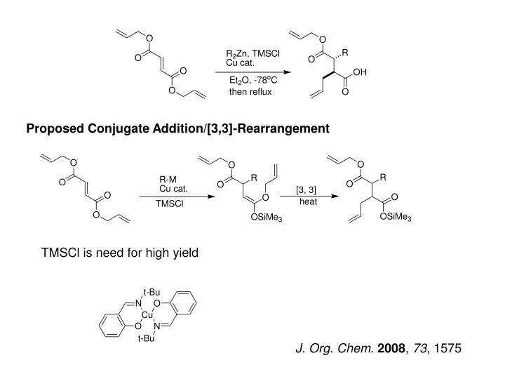 Proposed Conjugate Addition/[3,3]-Rearrangement