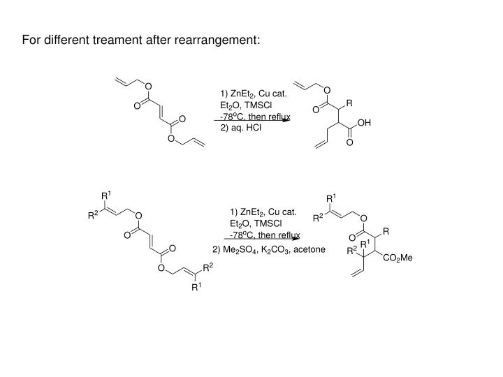 For different treament after rearrangement: