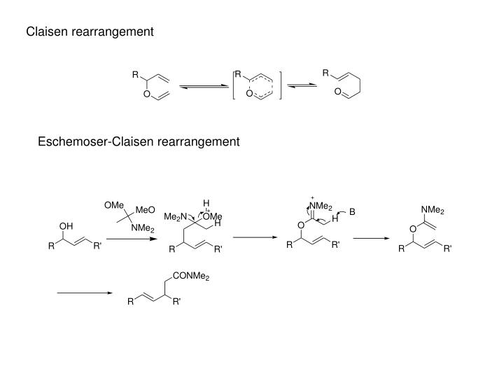 Claisen rearrangement