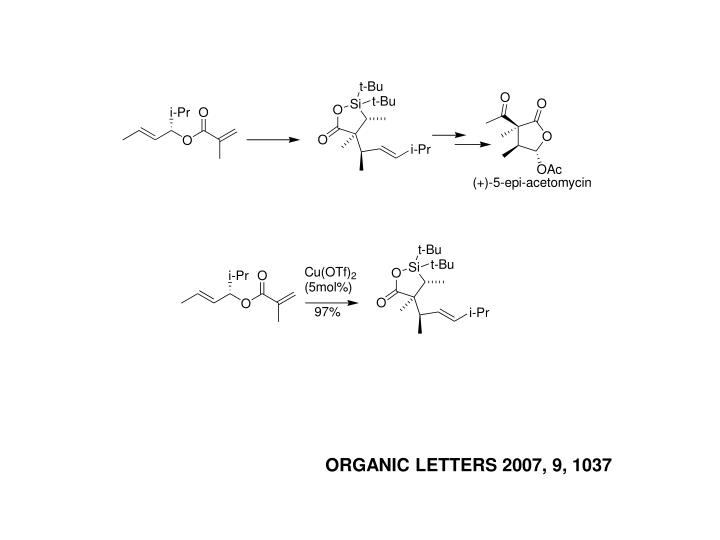 ORGANIC LETTERS 2007, 9, 1037