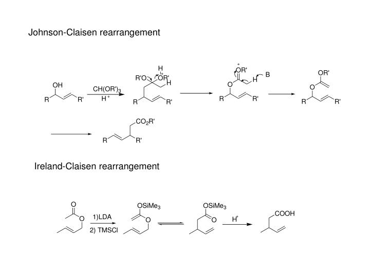 Johnson-Claisen rearrangement