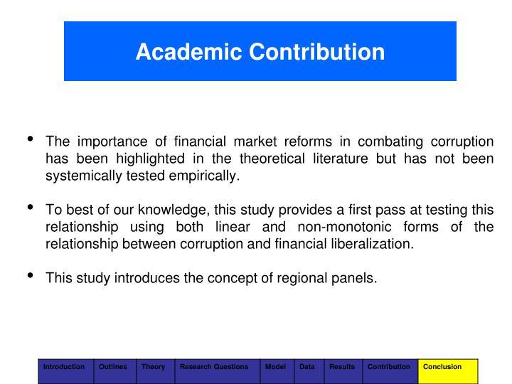 Academic Contribution