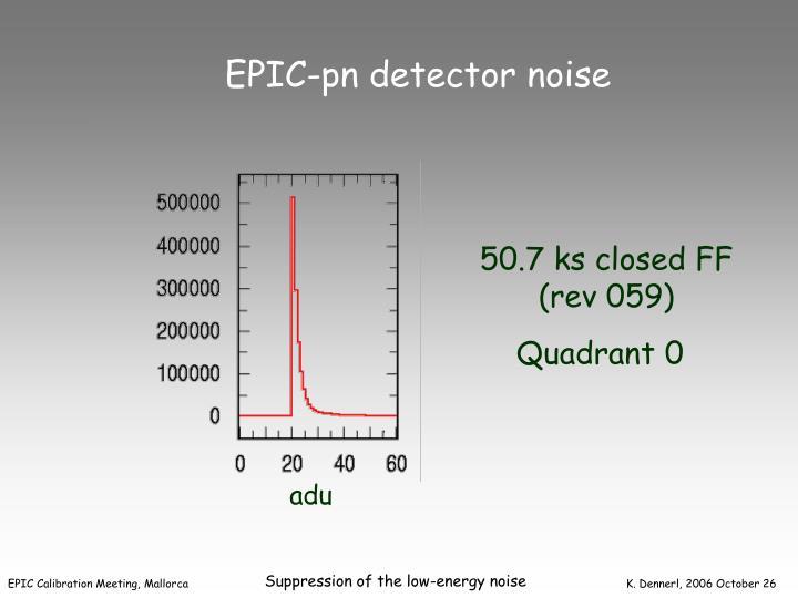 EPIC-pn detector noise