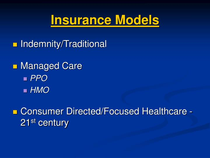 Insurance Models