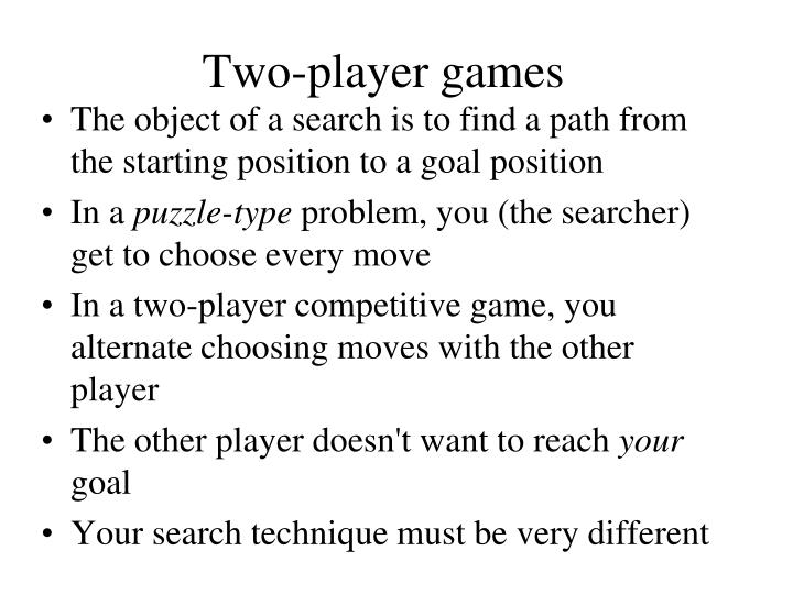 Two-player games