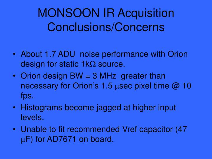 MONSOON IR Acquisition