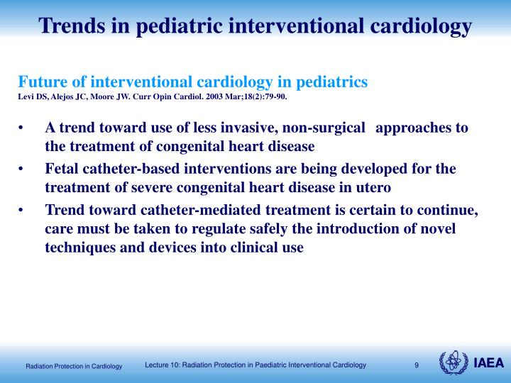 Trends in pediatric interventional cardiology
