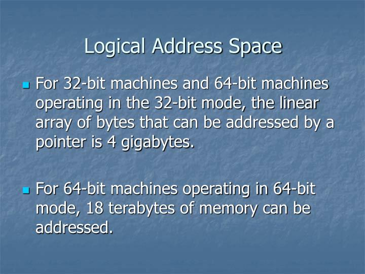 Logical Address Space