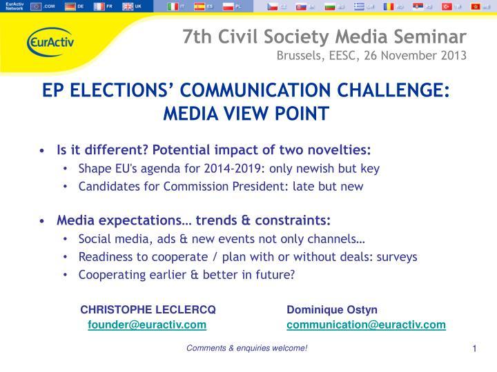 7th Civil Society Media Seminar