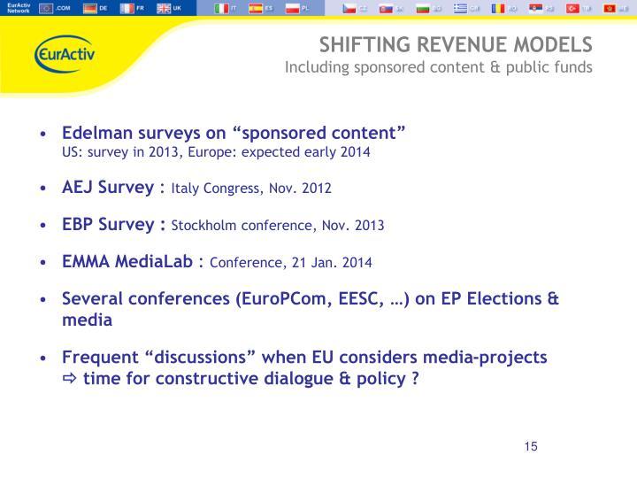 "Edelman surveys on ""sponsored content"""