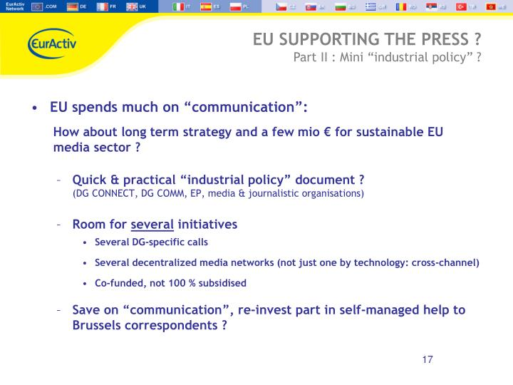 "EU spends much on ""communication"":"