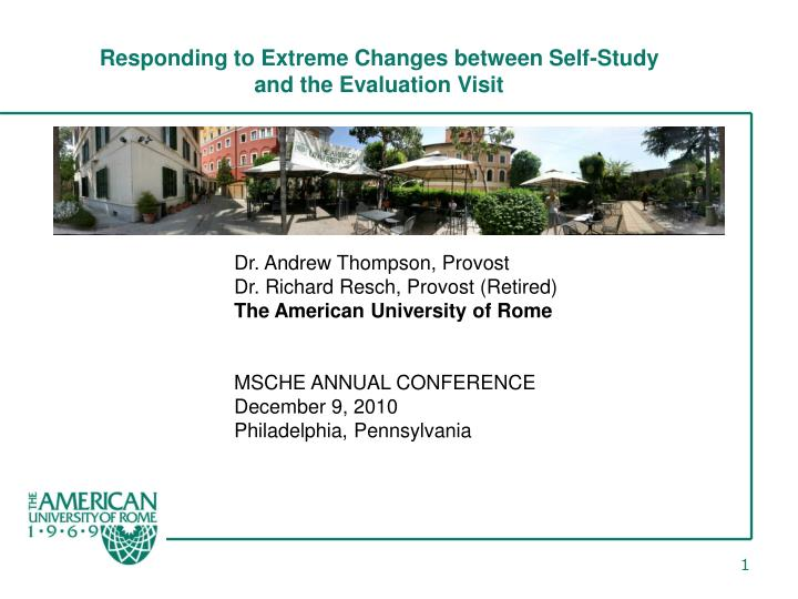 Responding to Extreme Changes between Self-Study