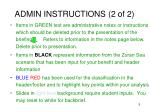 admin instructions 2 of 2