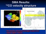 sma results 12 co velocity structure