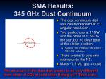 sma results 345 ghz dust continuum