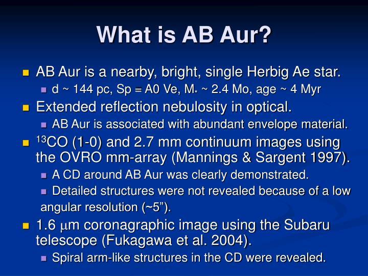 What is AB Aur?