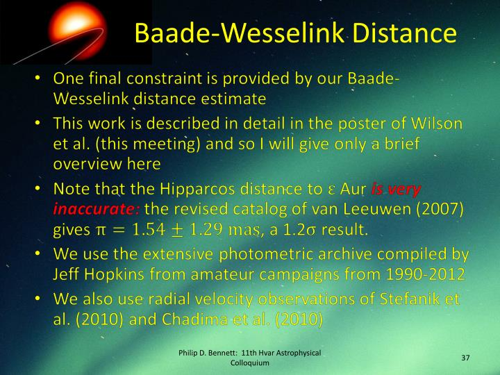 Baade-Wesselink Distance
