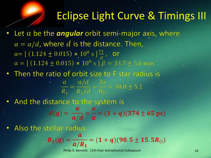 Eclipse Light Curve & Timings III