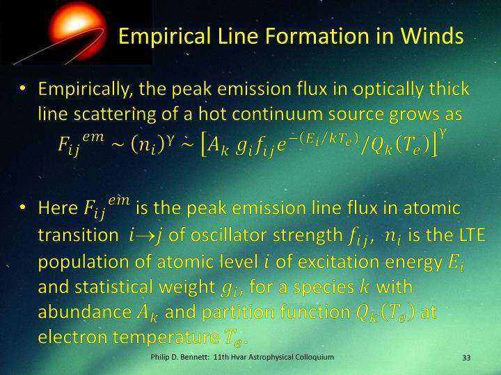 Empirical Line Formation in Winds