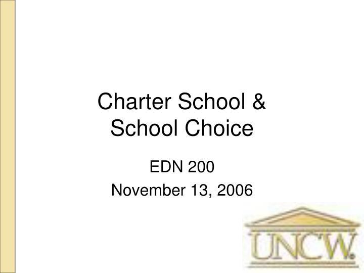 Charter School &